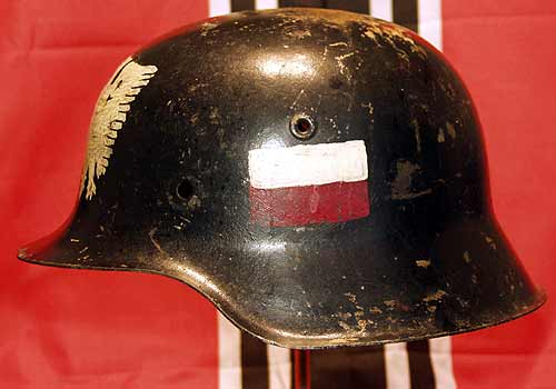 German M42 Polish Uprising Helmet Warsaw