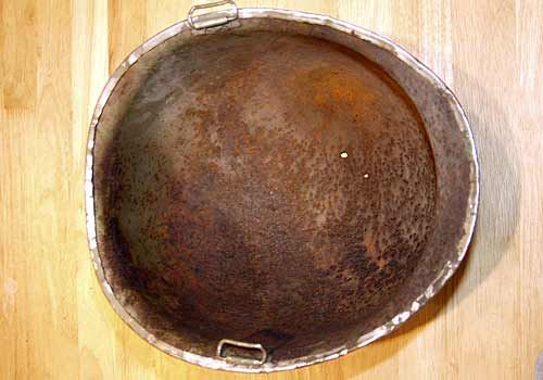 American WW2 M1 Helmet Rusted condition