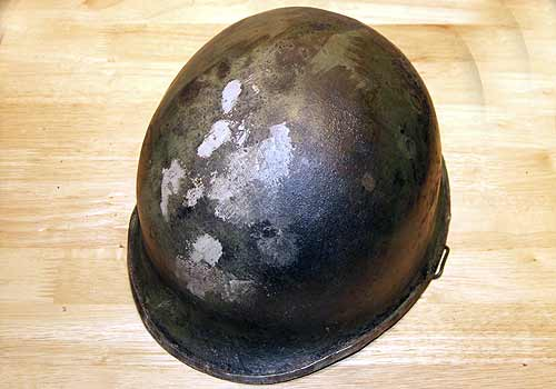 American WW2 M1 Helmet Filled and Sanded
