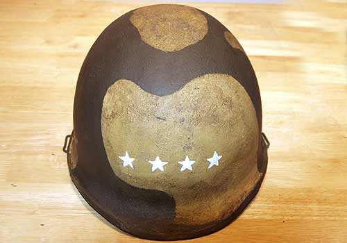 American WW2 M1C Helmet Officers Stars