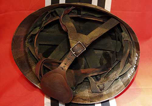 American WW2 M1C Helmet Liner Fully Fitted